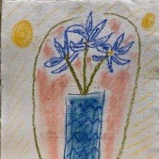 Arte: MARIA GIRONA - TÉCNICA MIXTA SOBRE PAPEL - FIRMADA. Lote 127138211