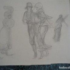 Arte: DIBUJO ORIGINAL A LÁPIZ DE RICARDO SUMMERS YSERN. SERNY. Lote 127239503