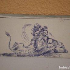 Arte: DIBUJO TIPO CÓMIC. ANÓNIMO. Lote 127596751