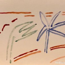 Arte: MARIA GIRONA - TÉCNICA MIXTA SOBRE PAPEL - FIRMADA. Lote 127655527