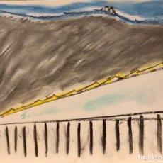 Arte: MARIA GIRONA - TÉCNICA MIXTA SOBRE PAPEL - FIRMADA. Lote 127656247