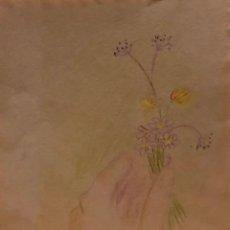 Arte: MARIA GIRONA - TÉCNICA MIXTA SOBRE PAPEL - FIRMADA. Lote 127656383