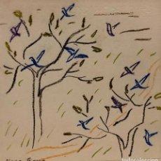 Arte: MARIA GIRONA - TÉCNICA MIXTA SOBRE PAPEL - FIRMADA. Lote 196475368