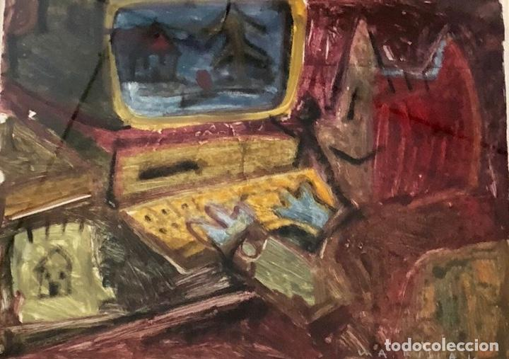 MARISCAL - TÉCNICA MIXTA SOBRE PAPEL - FIRMADA (Arte - Dibujos - Contemporáneos siglo XX)