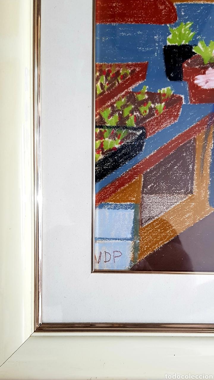 Arte: Preciosa pintura original (técnica mixta) firmada (iniciales). - Foto 2 - 127744254
