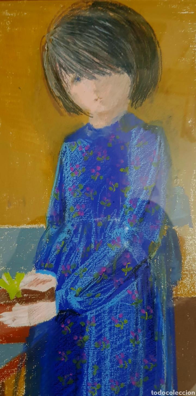 Arte: Preciosa pintura original (técnica mixta) firmada (iniciales). - Foto 3 - 127744254