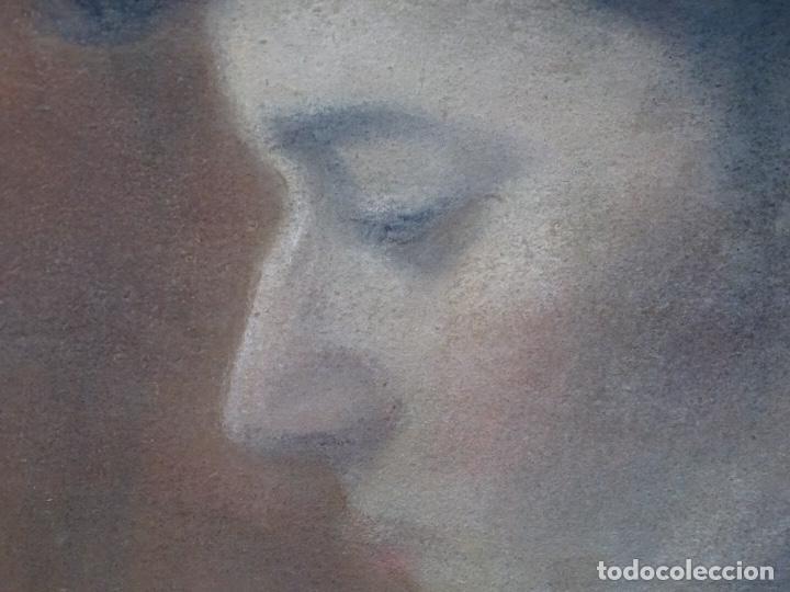 Arte: Retrato al pastel de señora.firmado bertran 1912.Buen trazo. - Foto 4 - 127797543