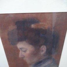 Arte: RETRATO AL PASTEL DE SEÑORA.FIRMADO BERTRAN 1912.BUEN TRAZO.. Lote 127797543