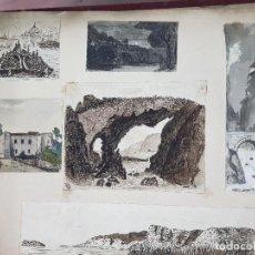 Arte: ALBUM CON 129 DIBUJOS FIRMADOS POR E. WYATT Y W. L. THORNTON - 2ª MITAD DEL SIGLO XIX - GRAN BRETAÑA. Lote 127931655