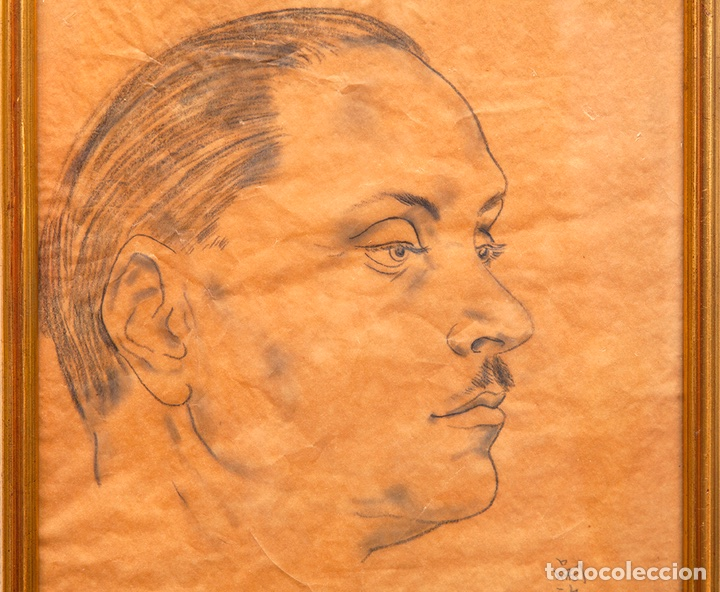 TSUGUHARU FOUJITA. 1935. RETRATO DE ANTONIO RODRÍGUEZ-MARTÍN. VANGUARDIAS. NUEVOS REALISMOS. (Arte - Dibujos - Contemporáneos siglo XX)