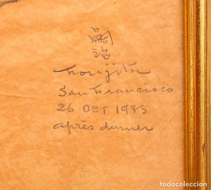 Arte: Tsuguharu Foujita. 1935. Retrato de Antonio Rodríguez-Martín. Vanguardias. Nuevos Realismos. - Foto 2 - 127978716