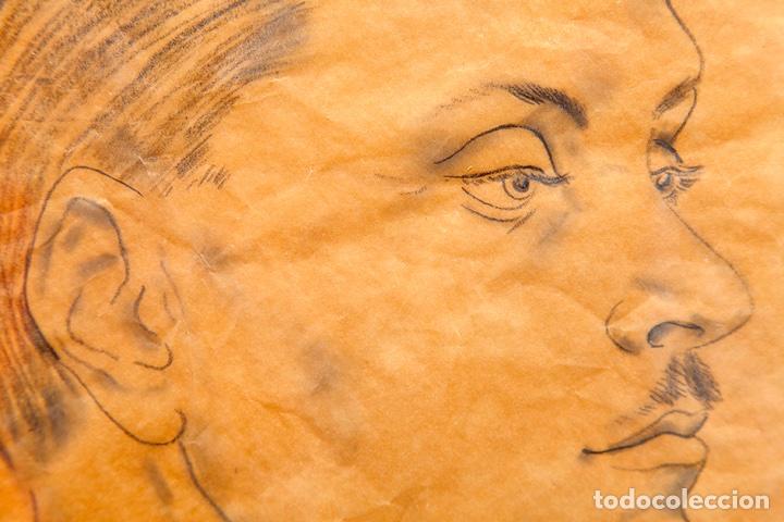 Arte: Tsuguharu Foujita. 1935. Retrato de Antonio Rodríguez-Martín. Vanguardias. Nuevos Realismos. - Foto 3 - 127978716