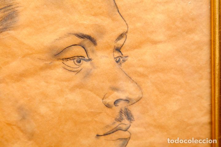 Arte: Tsuguharu Foujita. 1935. Retrato de Antonio Rodríguez-Martín. Vanguardias. Nuevos Realismos. - Foto 4 - 127978716