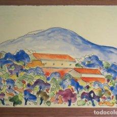 Arte: DIBUJO ORIGINAL DE PEP MARTORELL MONER, ACUARELA, MALLORCA, . Lote 127987583