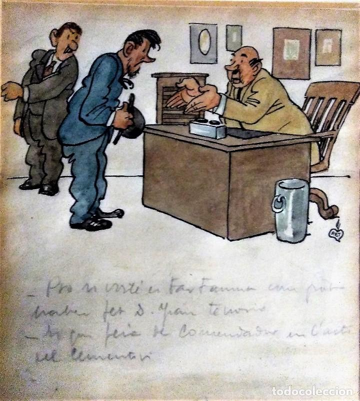 GAIETÁ CORNET. DIBUJO ORIGINAL FIRMADO. (Arte - Dibujos - Contemporáneos siglo XX)