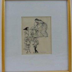 Arte: HERMOS DIBUJO DE BLANCANIEVES Y LOS 7 ENANITOS . Lote 128646311