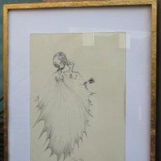 Arte: ESPECTACULAR DIBUJO TINTA-CUADRO RÉGIS DHO (1947) ORIGINAL. Lote 128710331