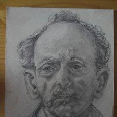 Arte: ESPECTACULAR DIBUJO RETRATO A LAPIZ FIRMADO 1960. Lote 128714651