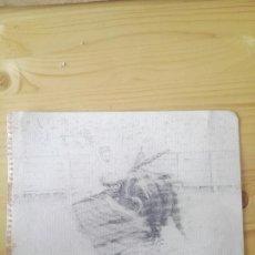 Arte: PRECIOSO DIBUJO LAPIZ DE TORERO PINTOR VELASCO AL TORERO MANOLO GONZÁLEZ. Lote 128731252
