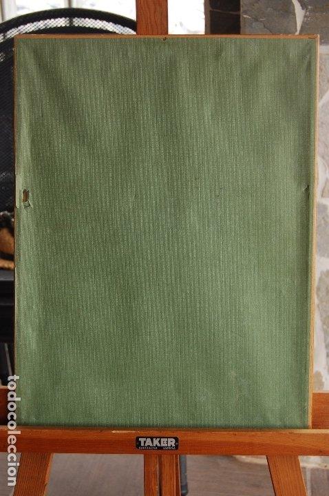 Arte: Gómez Navas (Málaga 1931) Dibujo a lápíz y carboncillo de 23x33 enmarcado en31x41.1995.Buen estado. - Foto 8 - 128779683
