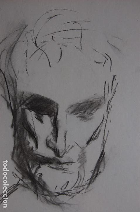 Arte: Gómez Navas (Málaga 1931) Dibujo a lápíz y carboncillo de 23x33 enmarcado en31x41.1995.Buen estado. - Foto 7 - 128779683