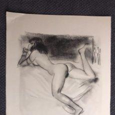 Arte: CARBONCILLO SERIE EROTICA. REPRODUCCIÓN (H.1950?). Lote 128943527