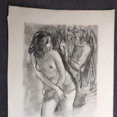 Arte: CARBONCILLO SERIE EROTICA. REPRODUCCIÓN (H.1950?). Lote 128943564