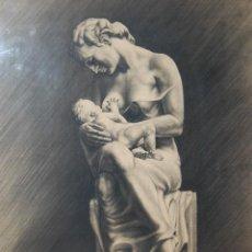 Arte: ITALO PRADELLA (1923-1978) ?? - MATERNIDAD - ORIGINAL 1947. Lote 128975291