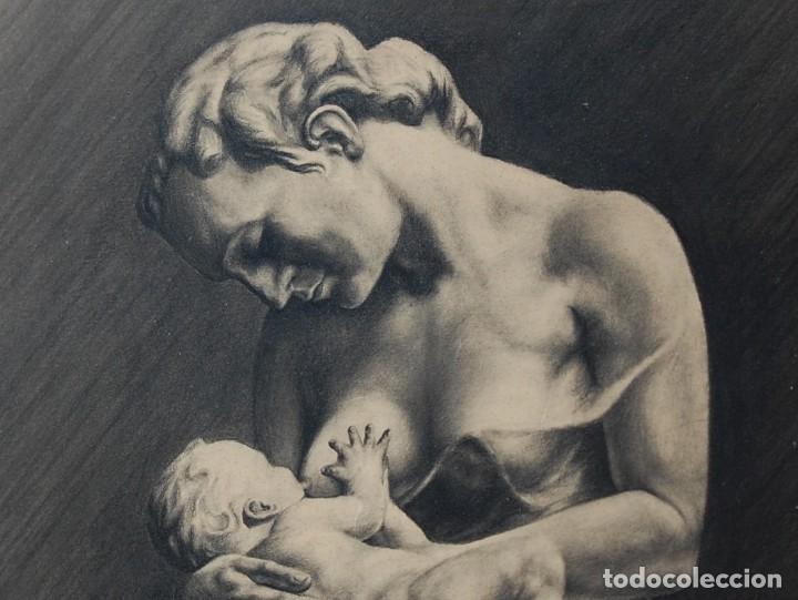 Arte: ITALO PRADELLA (1923-1978) ?? - MATERNIDAD - ORIGINAL 1947 - Foto 5 - 128975291
