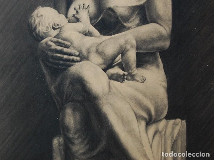 Arte: ITALO PRADELLA (1923-1978) ?? - MATERNIDAD - ORIGINAL 1947 - Foto 6 - 128975291