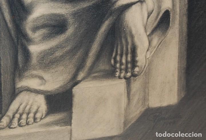 Arte: ITALO PRADELLA (1923-1978) ?? - MATERNIDAD - ORIGINAL 1947 - Foto 7 - 128975291