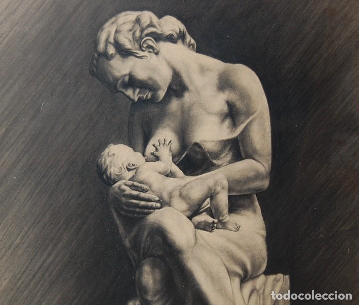 Arte: ITALO PRADELLA (1923-1978) ?? - MATERNIDAD - ORIGINAL 1947 - Foto 2 - 128975291