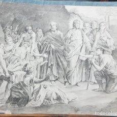 Arte: DIBUJO ORIGINAL A LAPIZ. ¿SIGLO XIX? 37X46. Lote 129086063