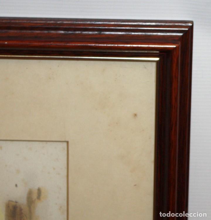 Arte: PERE CLAPERA ARGELAGUER (1906 - 1984) GOUACHE SOBRE PAPEL. PAREJA GALANTE - Foto 10 - 129223199