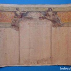 Arte: ARTURO BALLESTER - FACULTAD MEDICINA DIBUJO ORIGINAL PINTADO A MANO Y FIRMADO - AÑOS 1920-30. Lote 129249359