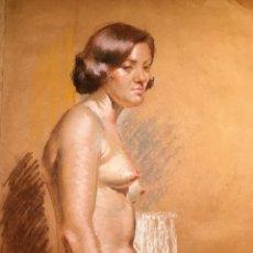 Arte: DESNUDO FEMENINO POR JOSÉ IGNACIO BURGUETE ALBALAT (VALENCIA 1933). Lote 129249655