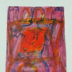 Arte: ABSTRACCIÓN. TÉCNICA MIXTA SOBRE PAPEL. ALBERT GONZALO CARBÓ. ESPAÑA. 1999.. Lote 129491827