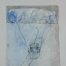 Arte: ABSTRACCIÓN. TÉCNICA MIXTA SOBRE PAPEL. ALBERT GONZALO CARBÓ. ESPAÑA. 1998.. Lote 129495499