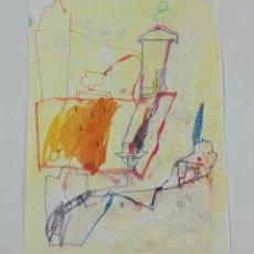 Arte: ABSTRACCIÓN. TÉCNICA MIXTA SOBRE PAPEL. ALBERT GONZALO CARBÓ. ESPAÑA. 1999.. Lote 129500359