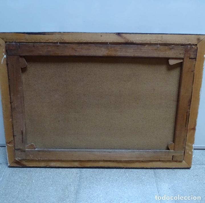 Arte: Gran oleo sobre tela firmado E. Ferrer 1911.Riells.gran calidad. - Foto 9 - 129654487