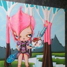 Arte: ORIGINAL PINKYTOAST PAINTING AÑO 2010 SURREAL ARTIST . Lote 129955635