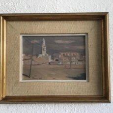 Arte: JOSEP POMES 1976 VILANOVA I LA GELTRU. ÓLEO SOBRE TABLA.. Lote 129965419