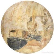 Arte: GIL GRANERO - TÉCNICA MIXTA SOBRE MADERA - FIRMADA. Lote 129980699
