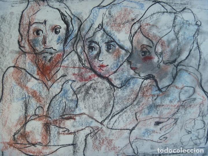 TORNER SEMIR JESUS MAESTRO ESPÍRITU SANTO COMUNIÓN MARÍA MAGDALENA MARÍA MADRE DE DIOS DISCÍPULAS (Arte - Dibujos - Contemporáneos siglo XX)