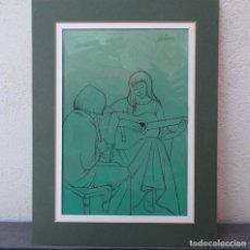 Arte: DIBUJO A TINTA Y ACUARELA.JOAN VILA MONCAU.. Lote 130010323