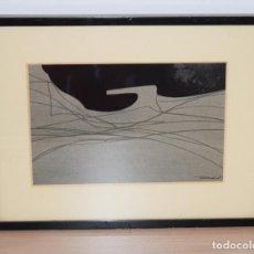 Arte: CUADRO OBRA ORIGINAL SOBRE PAPEL DEL ARTISTA PERECOLL , MATARÓ 1948 ENMARCADO MIDE 31,5 X 41,5 CM.. Lote 130085699