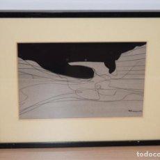 Arte: CUADRO OBRA ORIGINAL SOBRE PAPEL DEL ARTISTA PERECOLL , MATARÓ 1948 ENMARCADO MIDE 31,5 X 41,5 CM.. Lote 130086323