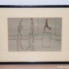 Arte: CUADRO OBRA ORIGINAL SOBRE PAPEL DEL ARTISTA PERECOLL , MATARÓ 1948 ENMARCADO MIDE 31,5 X 41,5 CM.. Lote 130086895