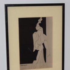 Arte: CUADRO OBRA ORIGINAL SOBRE PAPEL DEL ARTISTA PERECOLL , MATARÓ 1948 ENMARCADO MIDE 31,5 X 41,5 CM.. Lote 130090075