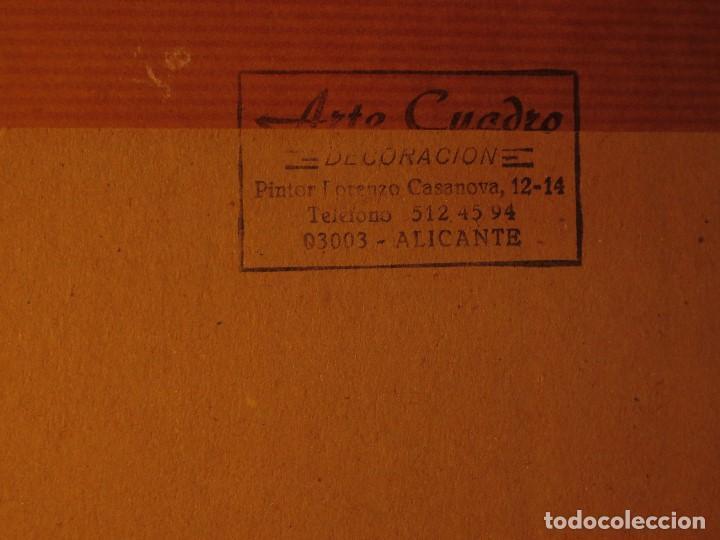 Arte: ALICANTINA CON ABANICO ANTIGUO DIBUJO ORIGINAL ALICANTE DEDICATORIA A RAQUEL FIRMA R. - Foto 8 - 130254158